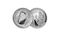 Jubileumsmynt i 99,9 % silver som hedrar Apollo 11