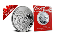 Officiellt Coca-Cola silvermynt