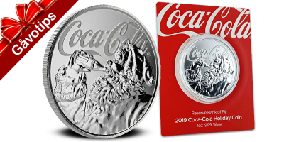 $1 Coca-Cola Christmas coin 2019