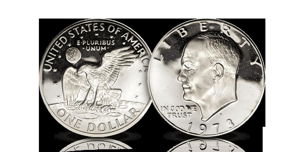 Populär Eisenhower-dollar i 40 % silver