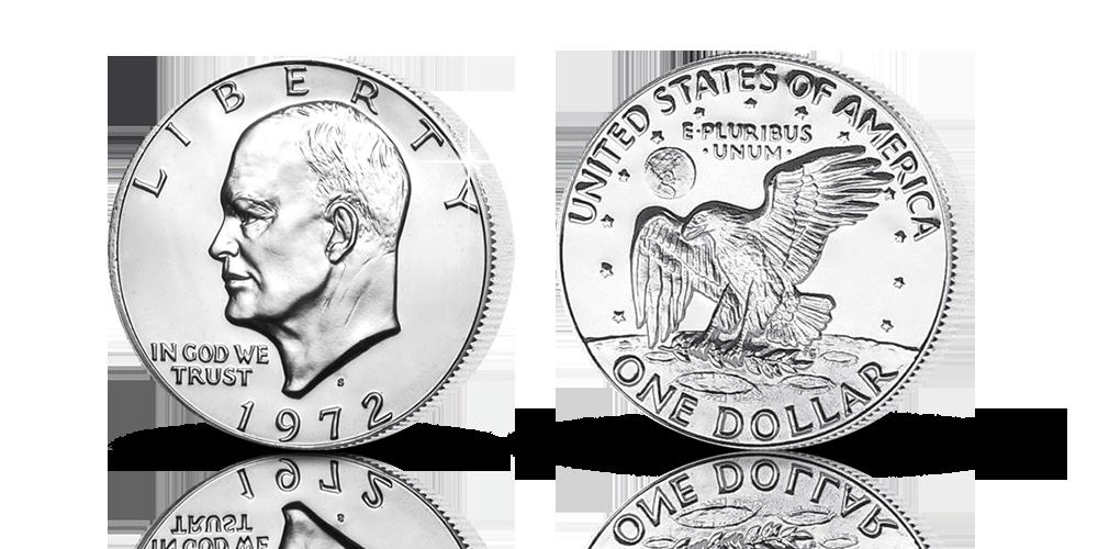 $1 Eisenhower 1972 Charlie Duke
