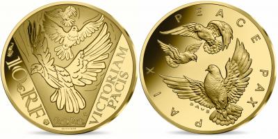 €10 Long Peace 75 Years 2020 i rättvisemärkt guld!
