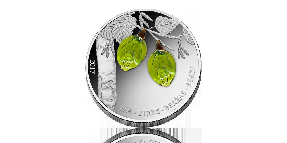 Ornäsbjörken är Sveriges Nationalträd nu på ett mynt i 99,9 % silver.. Myntet väger 20 gram och har en diameter på  37 mm. Nominellt värde: 1000 Francs