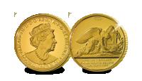 Guldmynt med originalmotiv från 1821