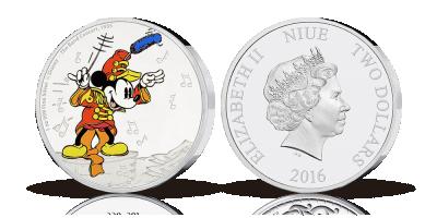 Mynt i 99,9 % silver med allas vår älskade Musse Pigg