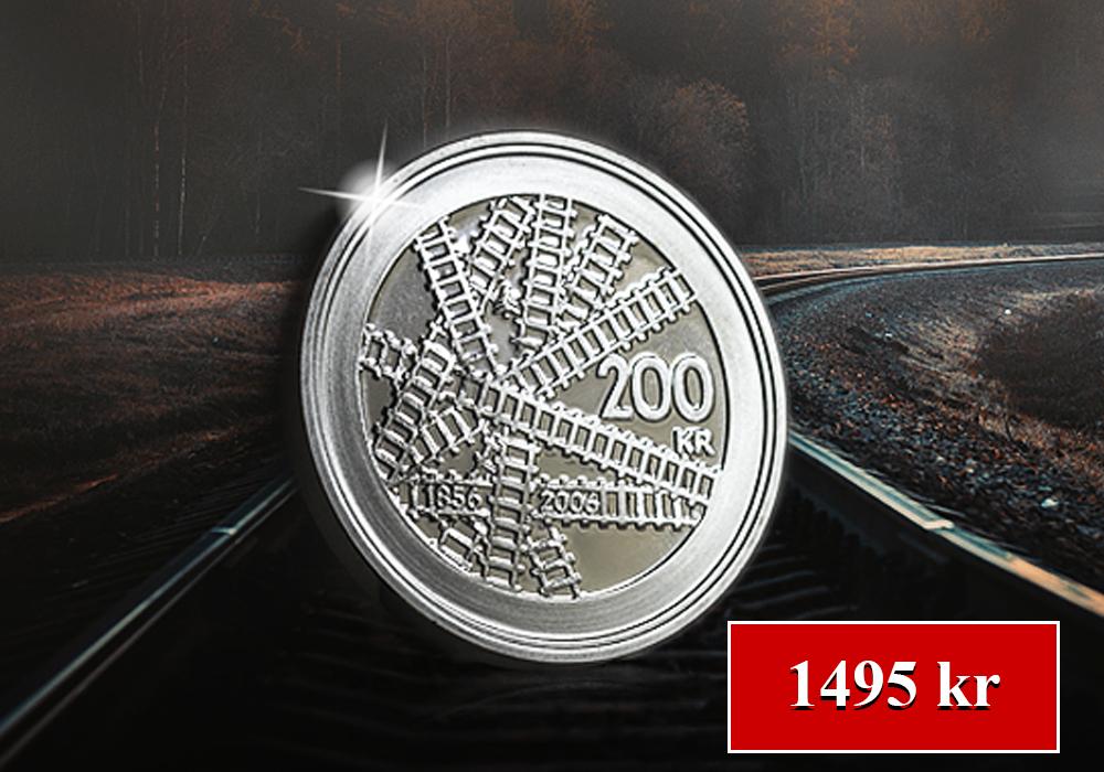 150 år på räls -  200 kronorsjubileumsmynt