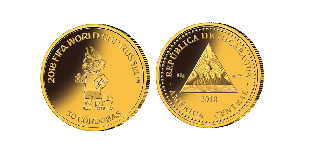Vi laddar inför VM i fotboll - mynt i 99,9 % guld - nu endast 995 kr!