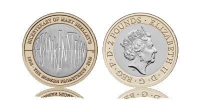 2018 UK £2 Frankenstein 200 year Anniv.