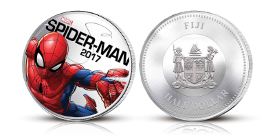 50 cent Spiderman Light-up Coin 2017