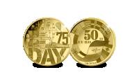 Andra världskriget - mynt i rättvisemärkt guld
