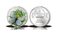 mynt i 99,9 % silver med 3D fjäril