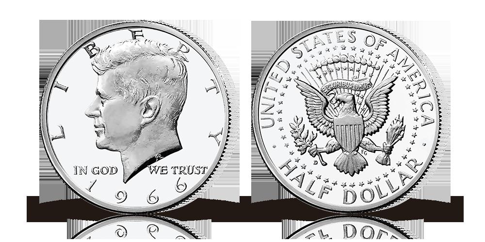 En väldigt speciell halvdollar i silver gavs ut i rekordfart till minne av den legendariska presidenten John F. Kennedy