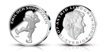 Astrid Lindgren silvermedaljsamling