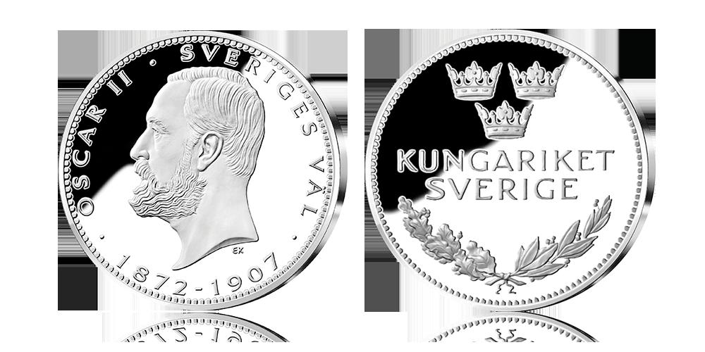 Oscar II jubileumsmedalj i 92,5 % silver