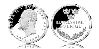Bernadotte 200 år silvermedaljsamling