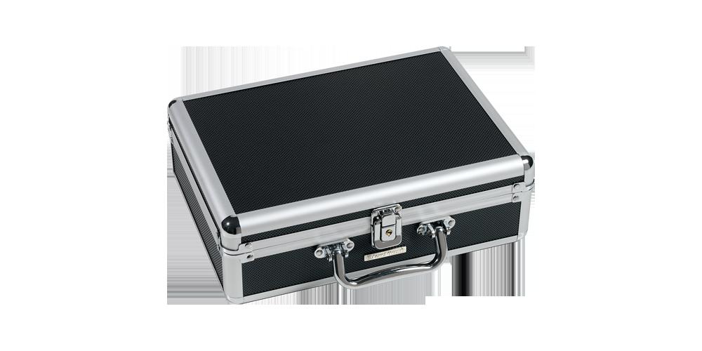 Praktisk Cargo S myntväska i svart och silver