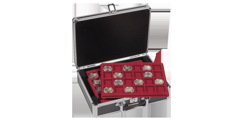 Cargo S myntväska i svart och silver med plats för 144 mynt