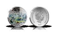 Carl Larssons kända konstverk Kräftfångst på ett silvermynt