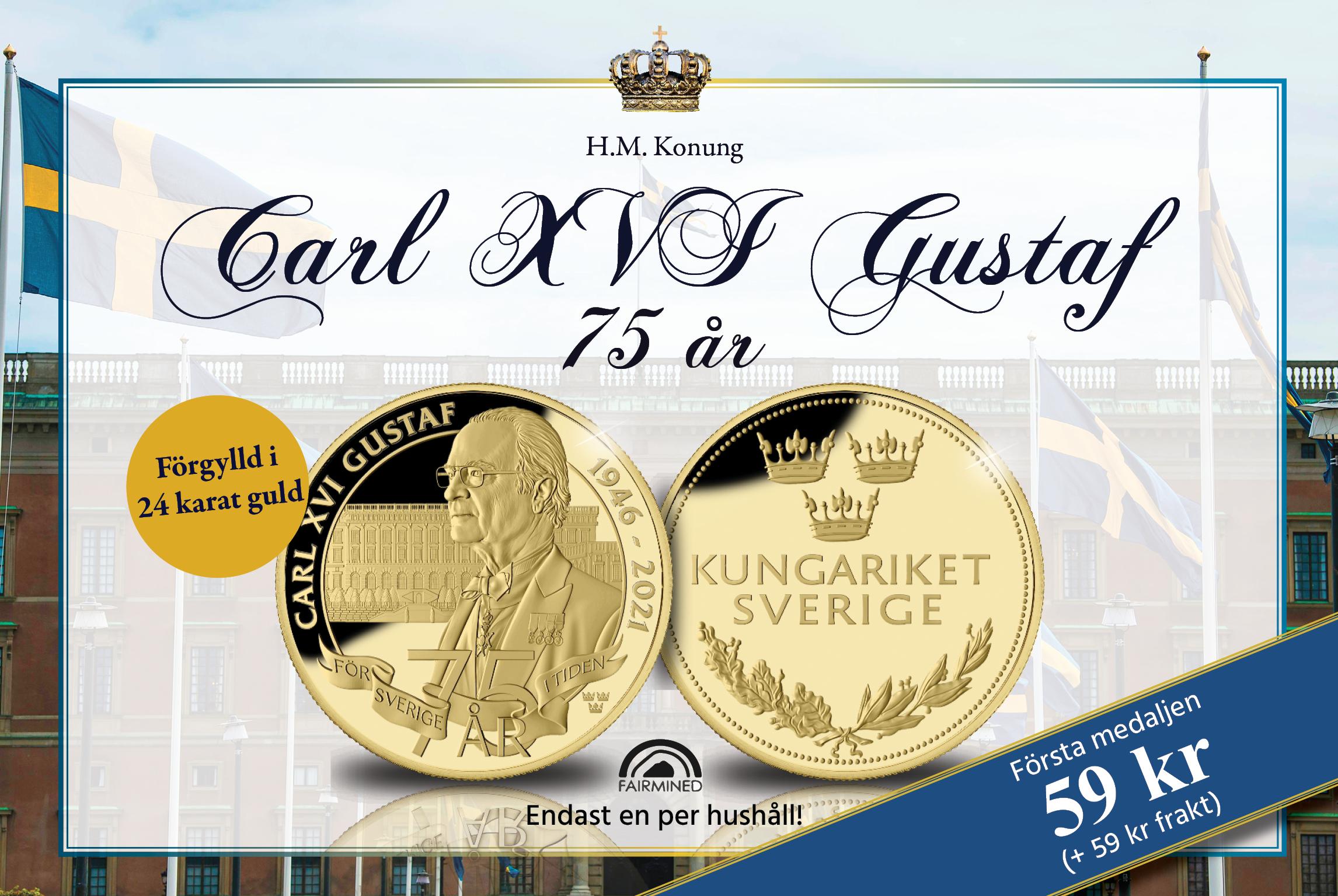Carl XVI Gustaf 75år