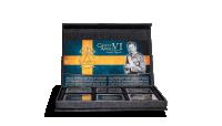 vackert specialdesignat skrin för myntset med Gustav VI 1952-1971