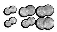 myntset med Gustav VI 1952-1971
