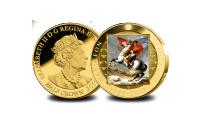 Napoleon 250 år jubileumsmynt förgylld med 24 karat guld