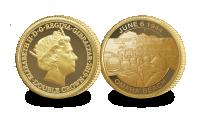 Minnesmynt i 9 karat guld som markerar D-dagens 75-årsjubileum