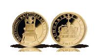 Minnesmedalj präglat av Mynthuset Sverige i 24 karat guld med motiv av Drottning Kristinas silvertron. Myntet väger 3,11 gram och har en diameter av 18 mm präglat i bästa proof-kvalitet.