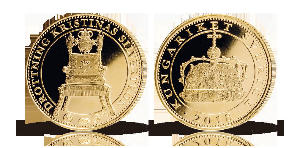 Drottning Kristinas Silvertron i 99,9 % guld