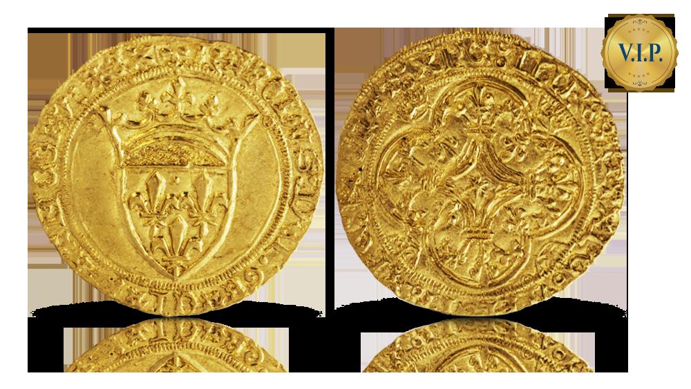 VIP erbjudande: Ecu d'or - det äldsta franska guldmyntet