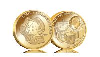 Emil och myssen på ett mynt i 90 % guld med en vikt på 3,45g och  21 mm i diameter.  Myntets nominella värde är  5 dollar.