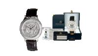 Klockan med halvdollar i 40 % silver bär motiv av den amerikanska presidentens segill