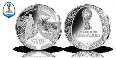 FIFA 2018 World Cup -Sverige medalj