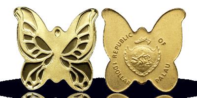 Fjärilsformat mynt