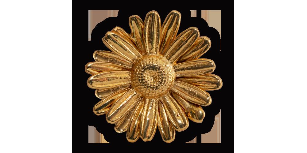 En riktig Tusensköna förgylld med 24 karat guld