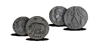 Över 1600 år gamla mynt