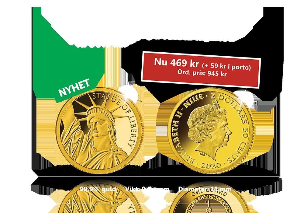Guldmynt med USA symbol - nu med 50% rabatt!