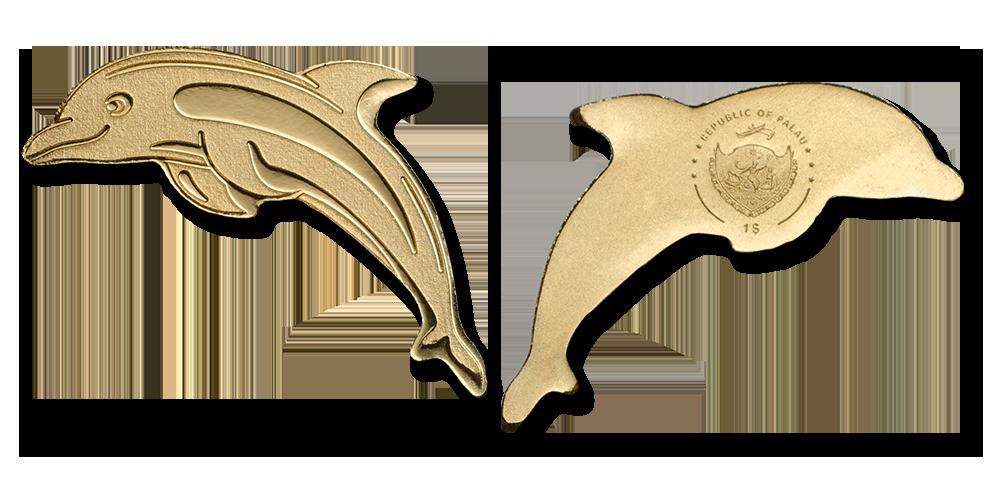 Delfinmynt i 99,9 % guld