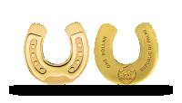 Mynt i 99,9 % guld format som hästsko