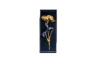 Vacker Vallmo förgylld med 24 karat guld i en vacker presentask