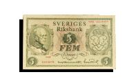 Framisda: jubileumssedel-gustav-v-5kr-sedel-1948