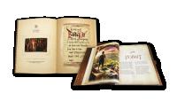 Hobbit bok med 37 frimärken med motiv från filmen, däribland ett speciellt frimärke förgyllt med 22 karat guld.