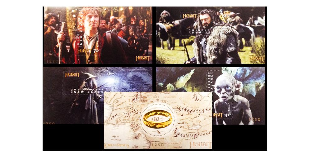37 frimärken med motiv från filmen, däribland ett speciellt frimärke förgyllt med 22 karat guld.