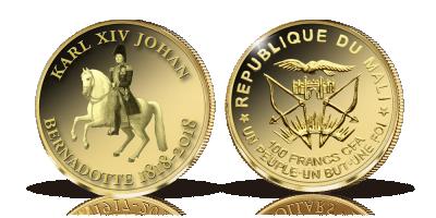 Karl XIV Johan i 99,9 % guld - begränsad upplaga!