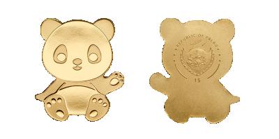 Panda mynt i 99,9 % guld