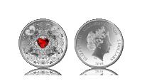 Luminous Love – mynt i 99,9 % silver och Swarovski-kristall