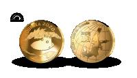 jubileumsmedalj #oursea 2020 belagd med 24 karat fairmined certifierat guld