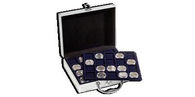 Myntväska i aluminium str. S 292 x 97 x 213 mm