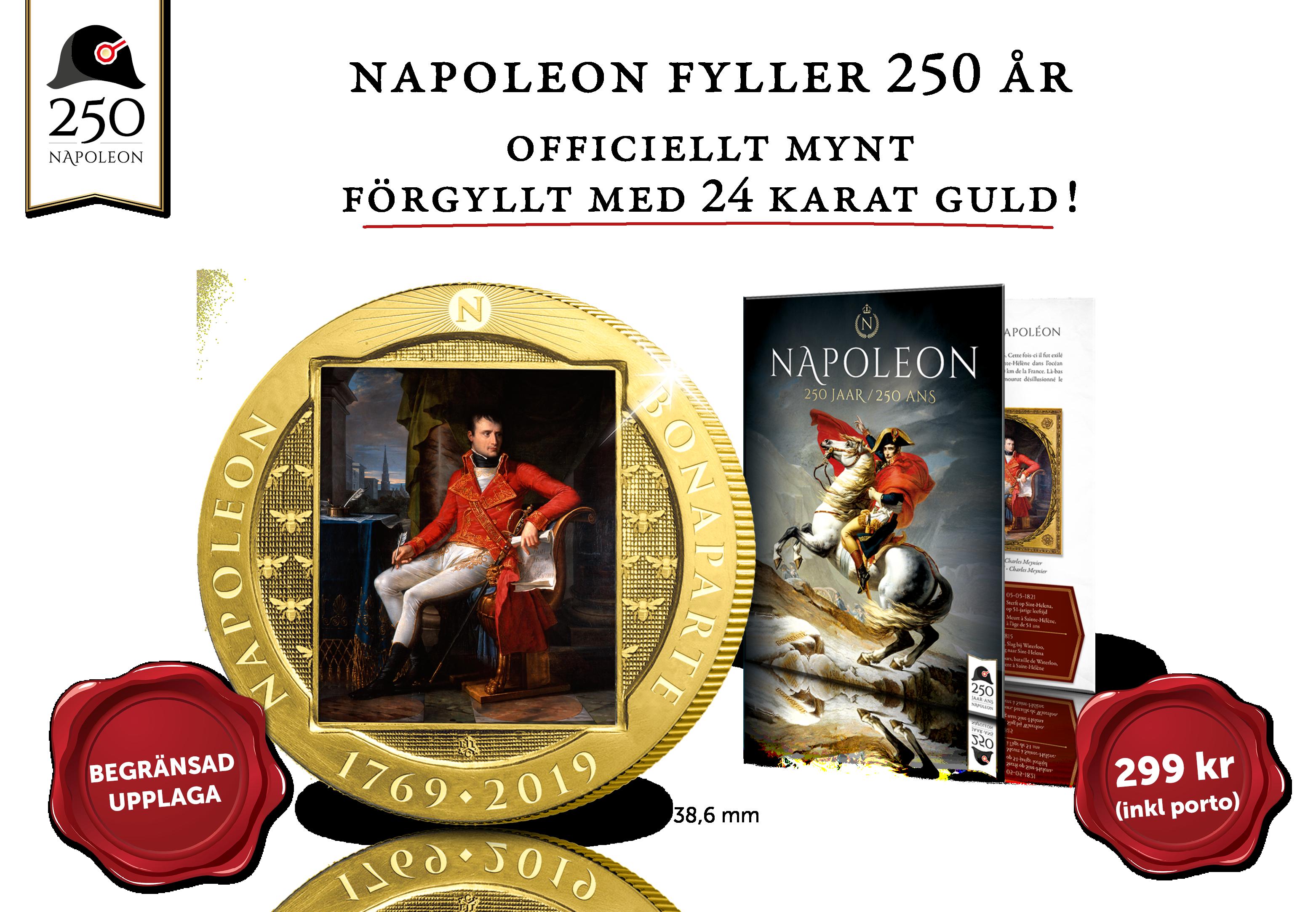 Napoleon fyller hela 250 år