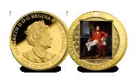 Napoleon 250 år hedras med en serie mynt förgyllda med 24 karat guld